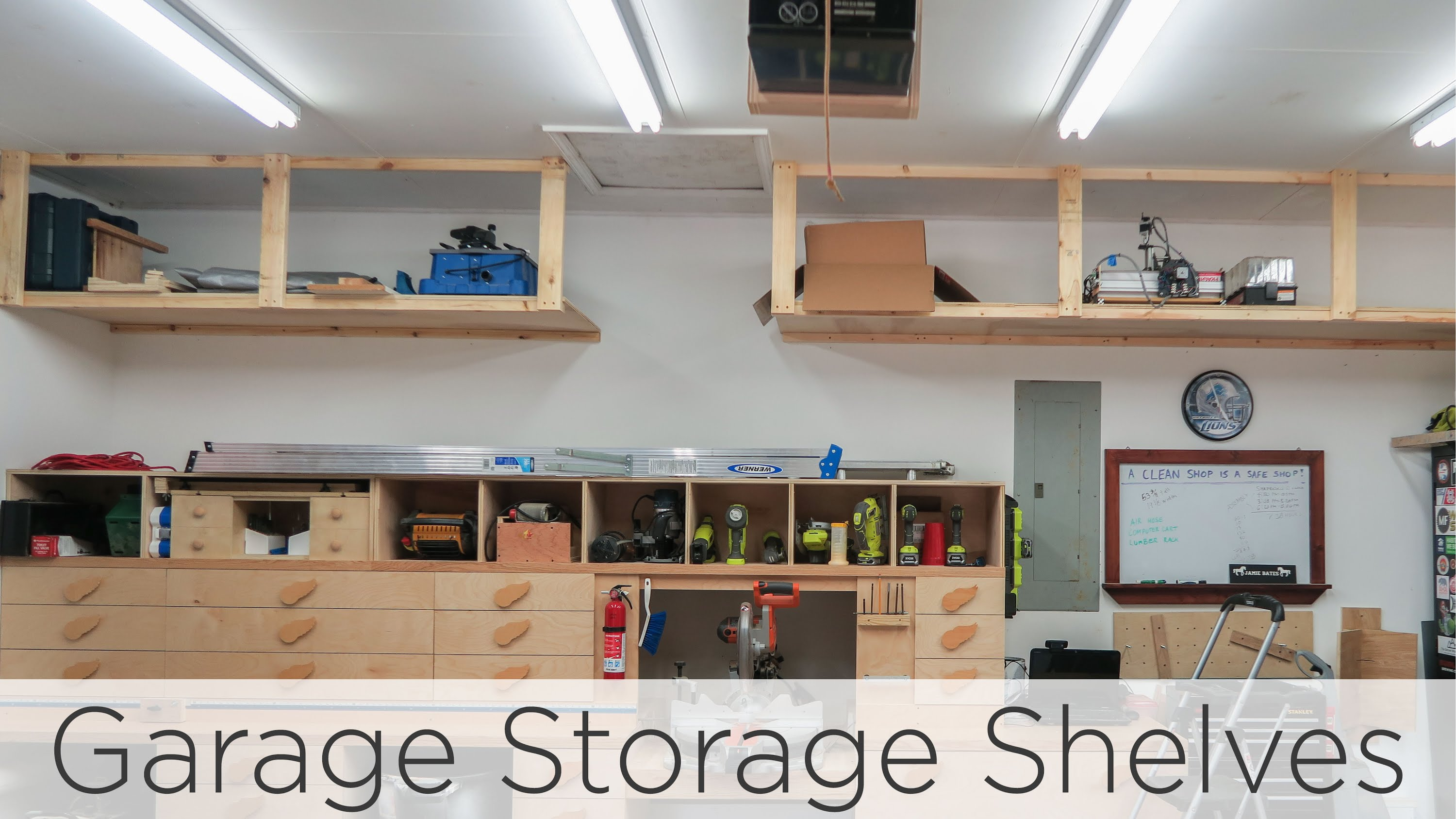 Wasted space garage storage shelves jays custom creations solutioingenieria Gallery