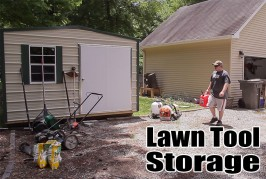 Lawn Tool Storage In A Garden Shed