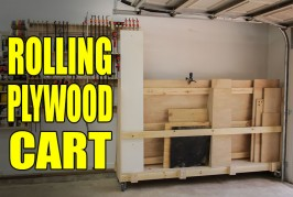 Rolling Plywood Cart