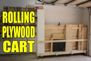 Rolling plywood cart jays custom creations for Rolling lumber cart plans
