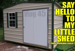 Vlog #45: Painted tools, a shed, and a cutting board