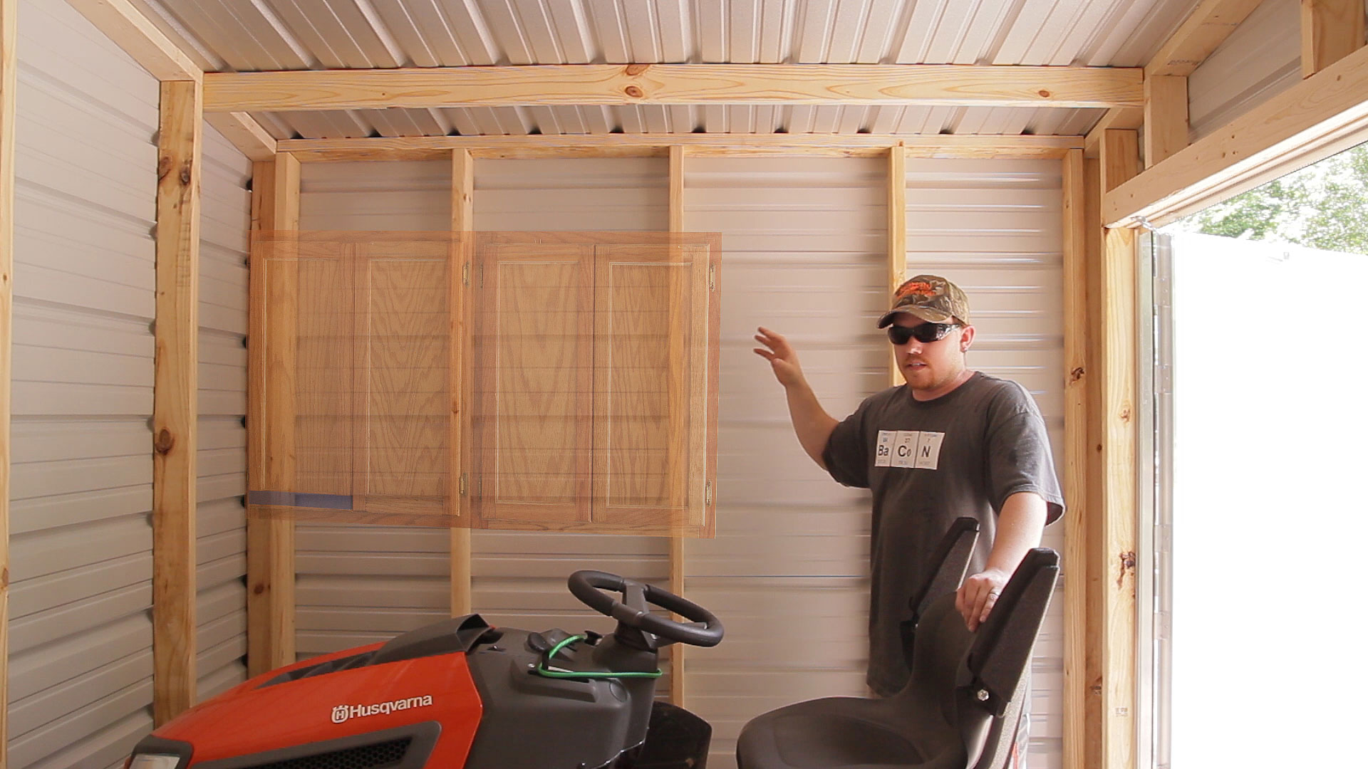 For better access when needed the mower can be moved. My idea was to use spare cabinets I had in my shop.  sc 1 st  Jays Custom Creations & Lawn Tool Storage In A Garden Shed | Jays Custom Creations