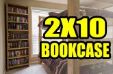 Easy & Huge 2×10 Stopped Dado Bookcases