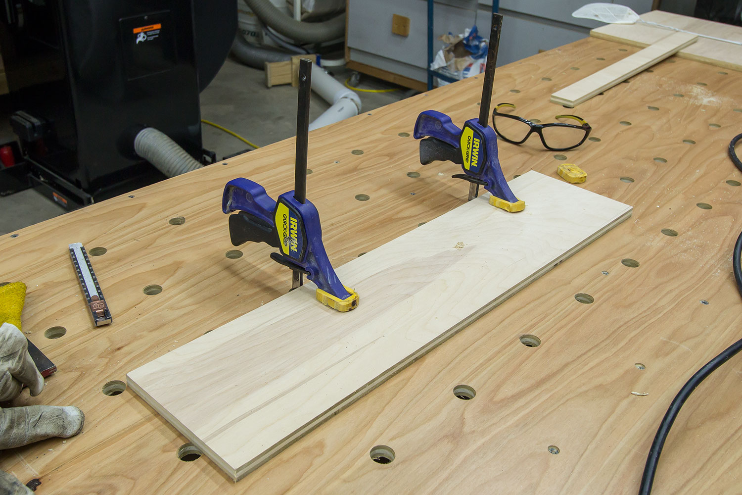 quick clamps for paulk workbench or mft table | jays custom