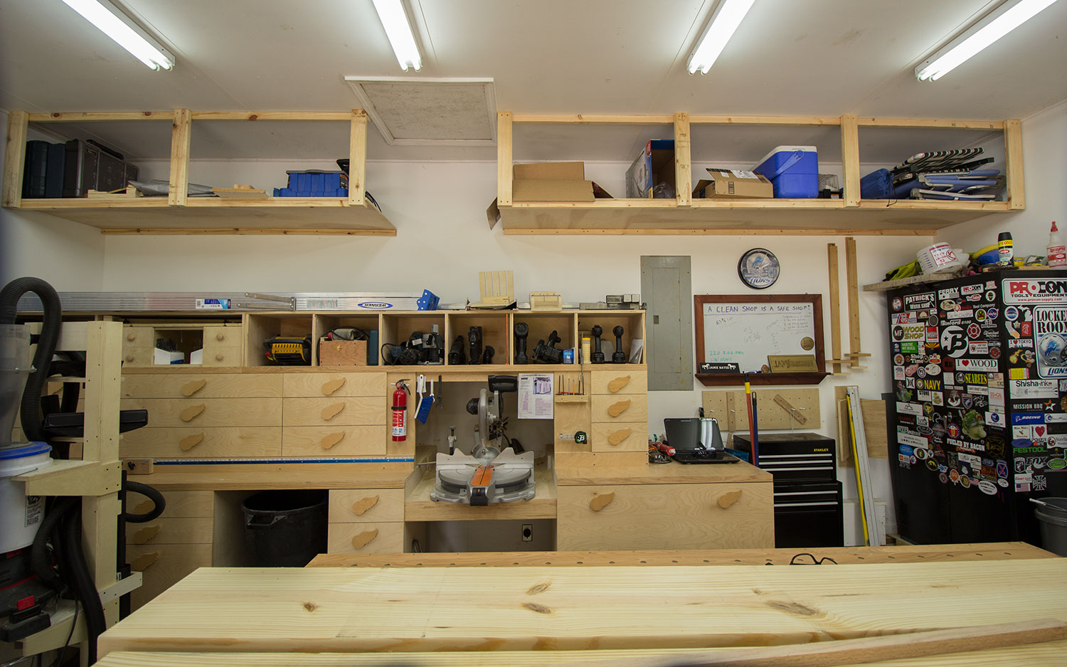 2 car garage woodshop shop tour 2015 jays custom creations. Black Bedroom Furniture Sets. Home Design Ideas