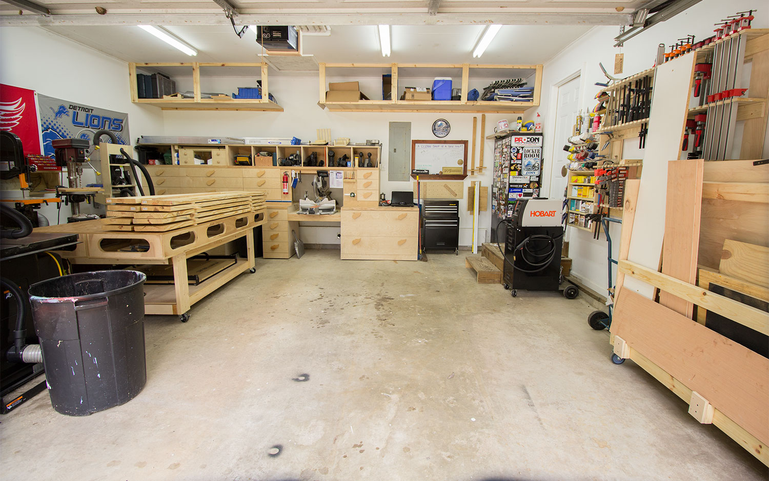 2 car garage woodshop shop tour 2015 jays custom creations for Two car garage with workshop plans