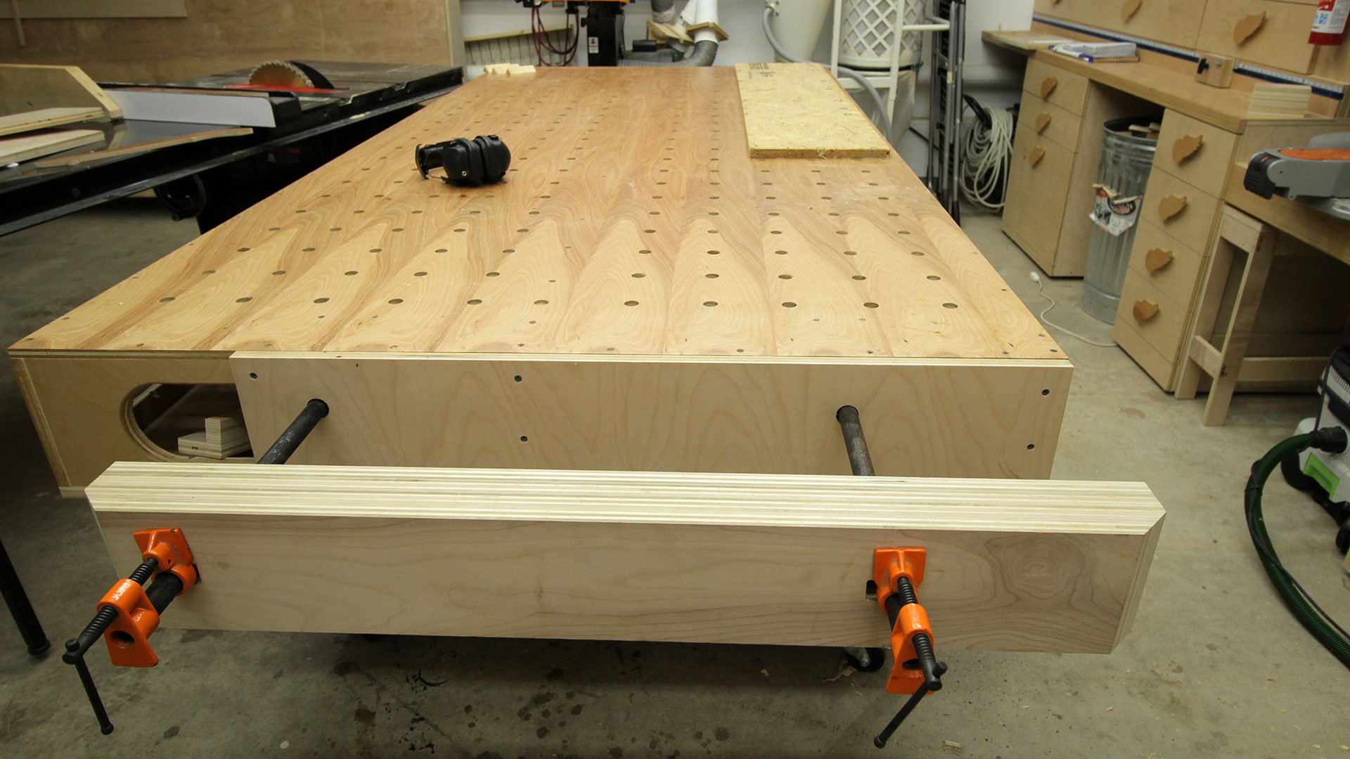 Easy, Strong, Huge Pipe Clamp Workbench Vise | Jays Custom ...