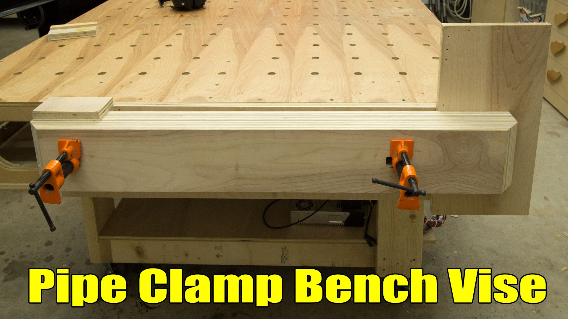 easy, strong, huge pipe clamp workbench vise | jays custom