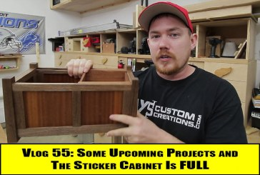 Vlog #55: Some Upcoming Projects And The Sticker Cabinet Is FULL