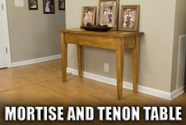 Mortise And Tenon Table