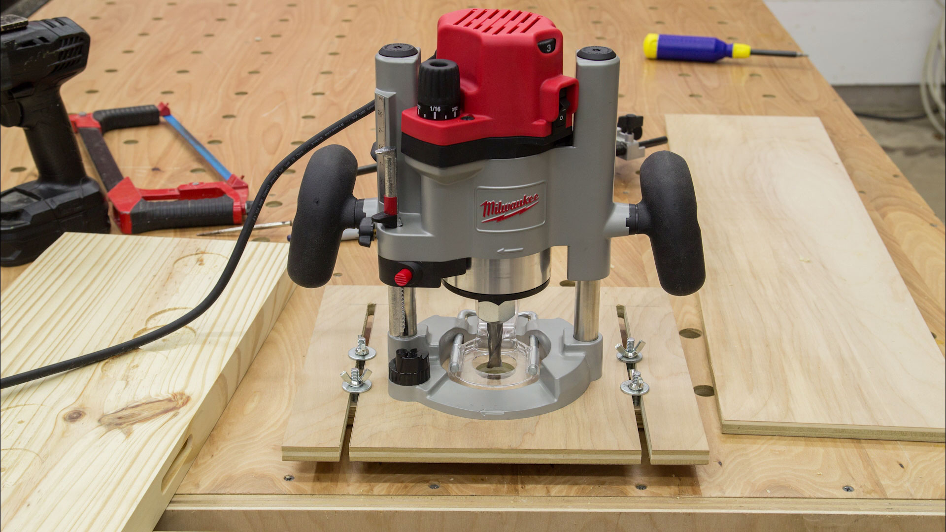 77 Universal Router Edge Guide And Mortise Jig Bosch