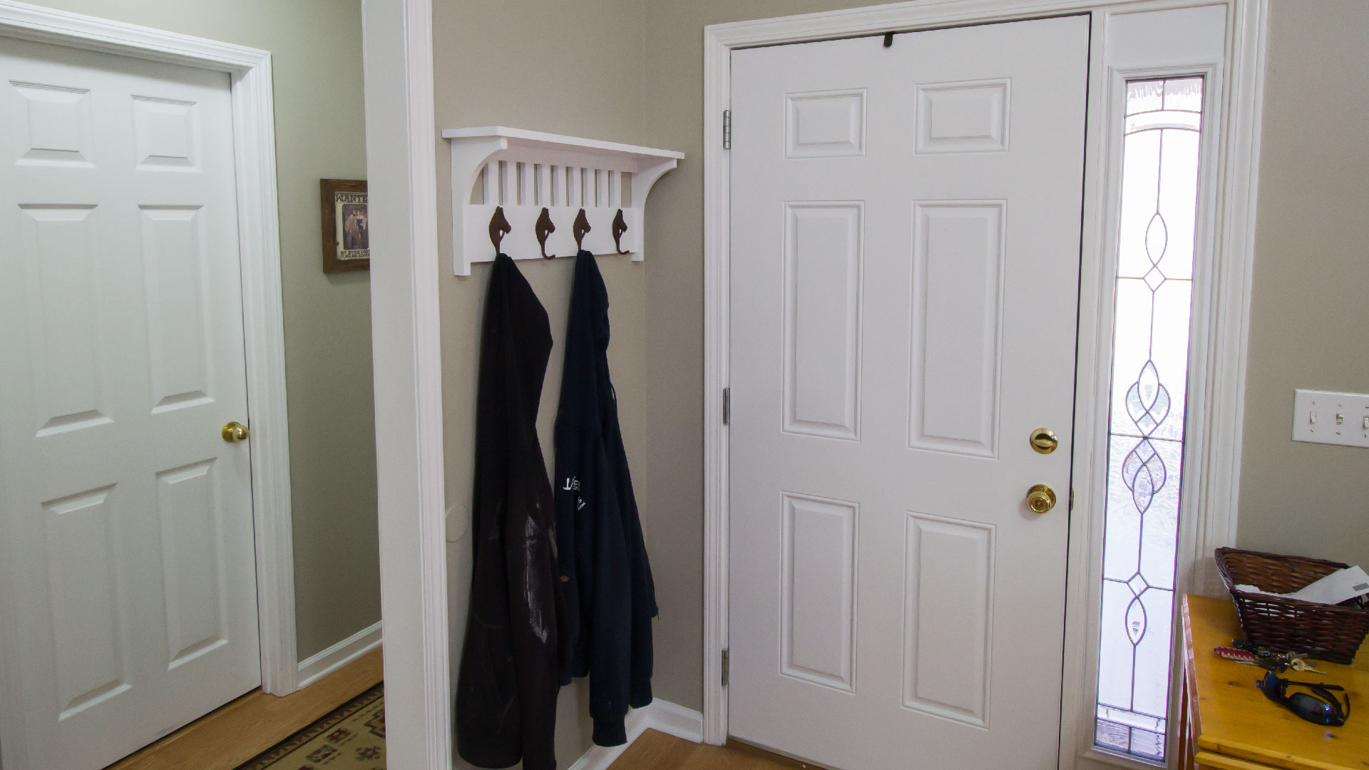coat credited exterior door with popular interior design and from has hook shoe david or l subscribed rack benches entry out home ideas wooden gray furniture in way storage large for awesome