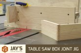 Table Saw Box Joint Jig