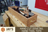 Hand Cut Dovetail Hand Tool Tote