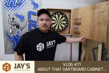 Vlog #71: About that dartboard cabinet…