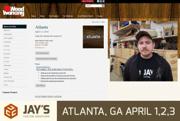 Will you be there? The Woodworking Show, April 1-3
