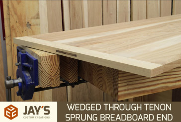 Wedged Through Mortise And Tenon Sprung Breadboard End