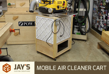 Mobile Air Cleaner Cart