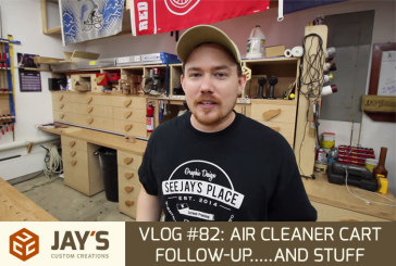 Vlog #82: Air Cleaner Cart Follow-up…..and stuff