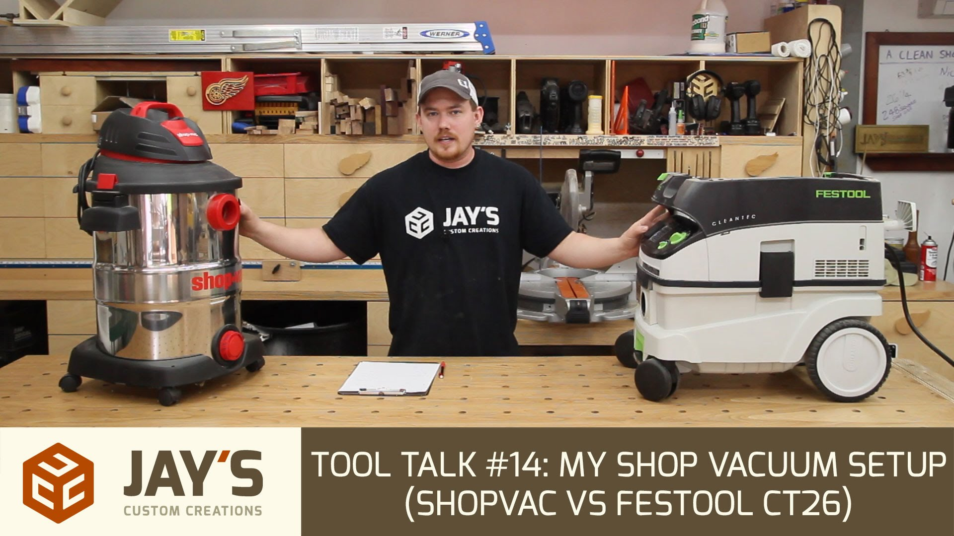 tool talk 14 my shop vacuum setup shopvac vs festool ct26 jays custom creations. Black Bedroom Furniture Sets. Home Design Ideas