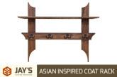 Asian Inspired Coat Rack