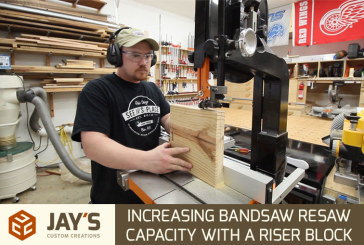Increasing Bandsaw Resaw Capacity With A Riser Block