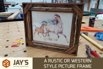 A Rustic or Western Style Picture Frame