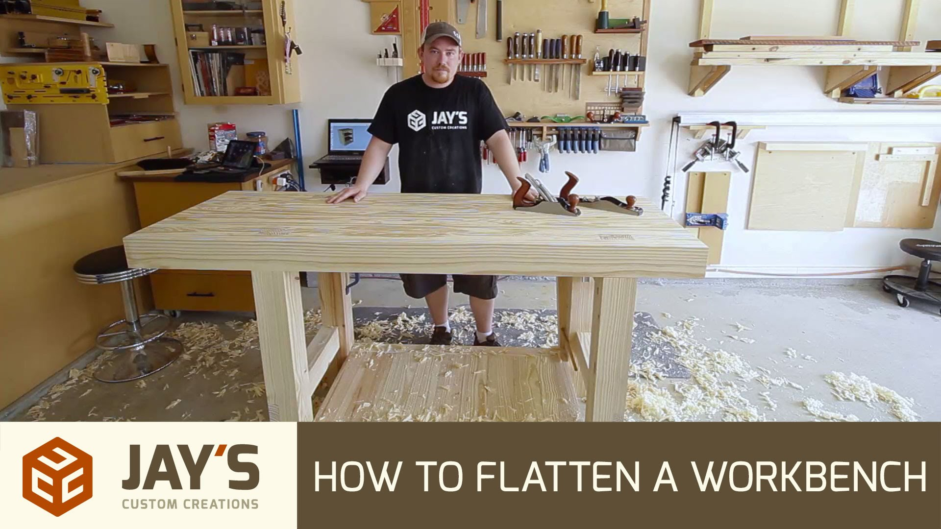 Sensational How To Flatten A Workbench Top With Hand Planes Jays Ibusinesslaw Wood Chair Design Ideas Ibusinesslaworg