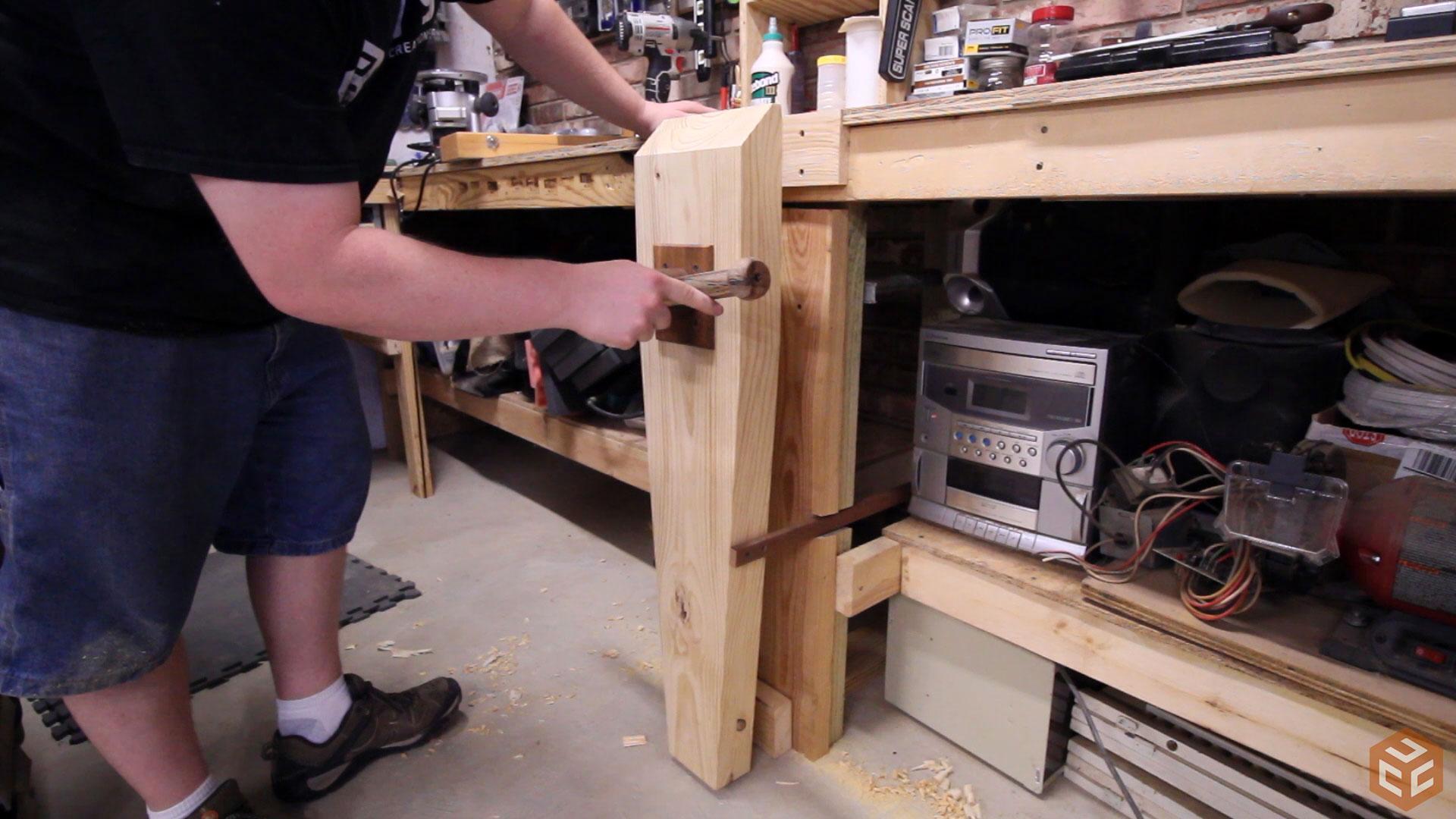 Leg Vise On A 2 4 Workbench Jays Custom Creations