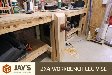 Leg Vise on a 2×4 Workbench