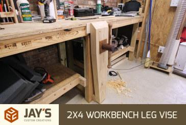 Leg Vise on a 2×4 Workbench