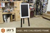 Homemade Easel and Chalkboard Frame