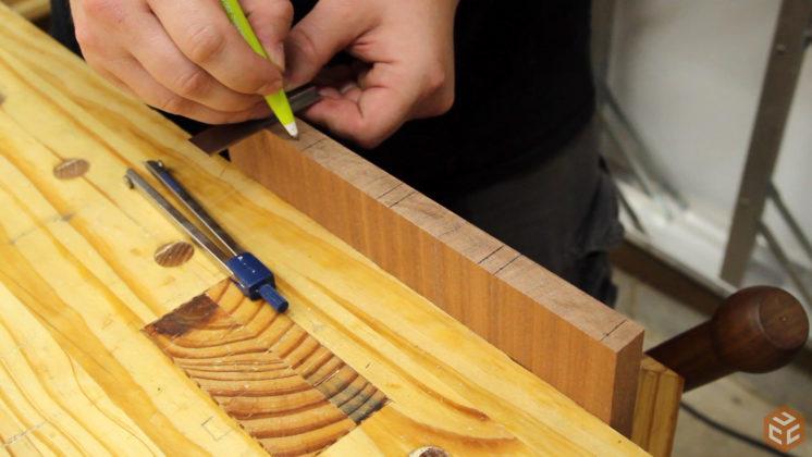 hand cut dovetail utensil shelves (10)