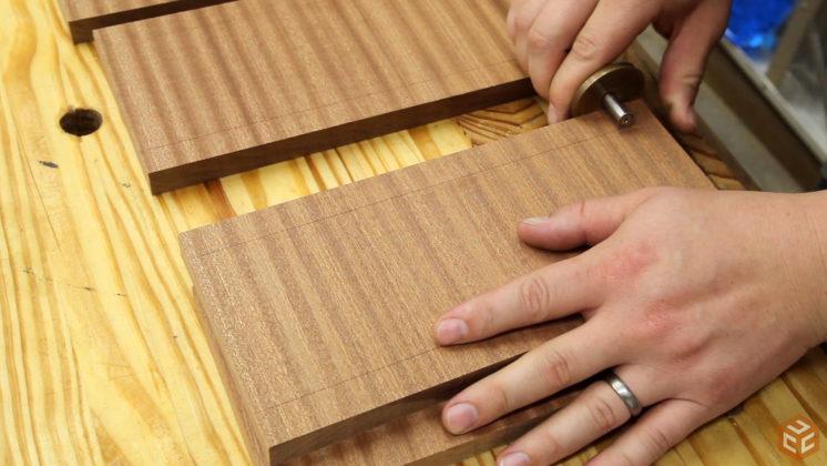 hand cut dovetail utensil shelves (12)