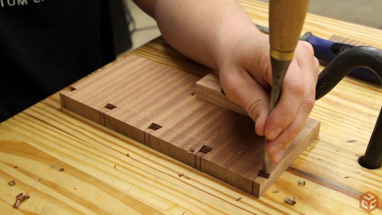 hand cut dovetail utensil shelves (18)
