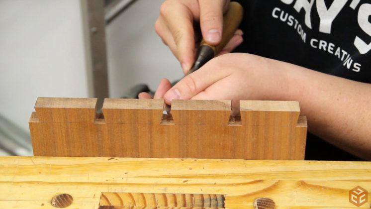 hand cut dovetail utensil shelves (20)