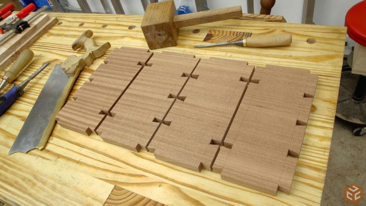 hand cut dovetail utensil shelves (24)