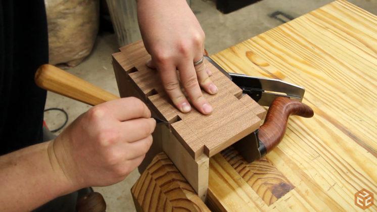 hand cut dovetail utensil shelves (25)