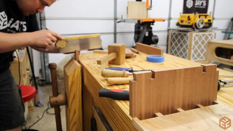 hand cut dovetail utensil shelves (29)