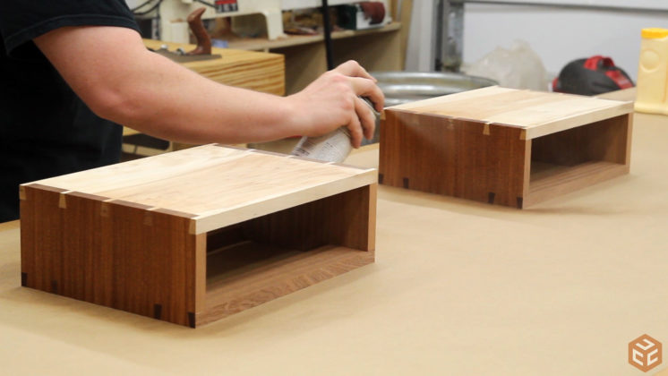 hand cut dovetail utensil shelves (33)