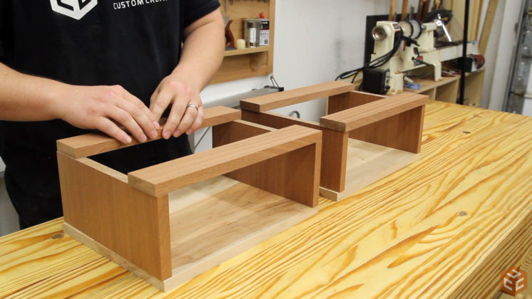 hand cut dovetail utensil shelves (8)