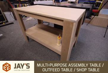 Shop Table From 1 Sheet of Plywood