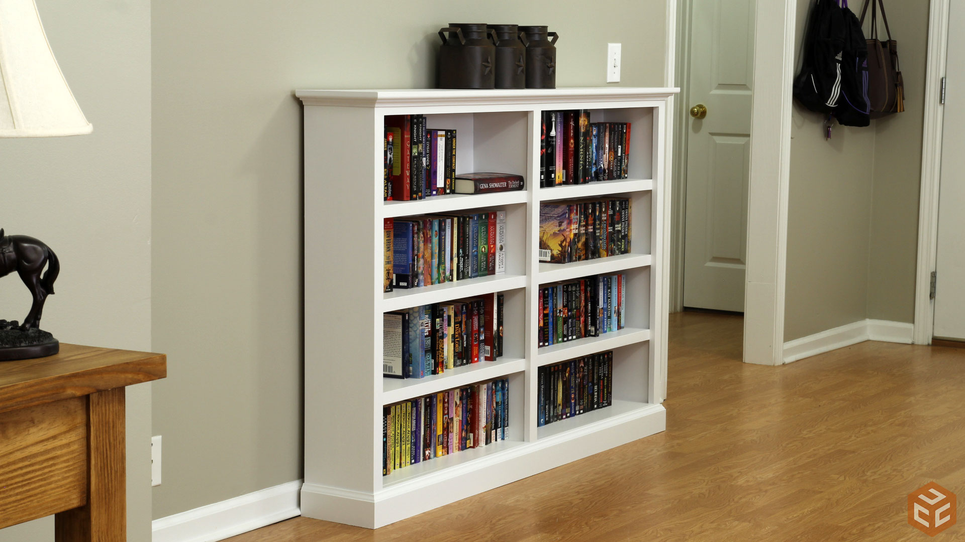 How To Build A Bookcase Jays Custom Creations. Full resolution‎  portrait, nominally Width 1920 Height 1080 pixels, portrait with #6F4625.