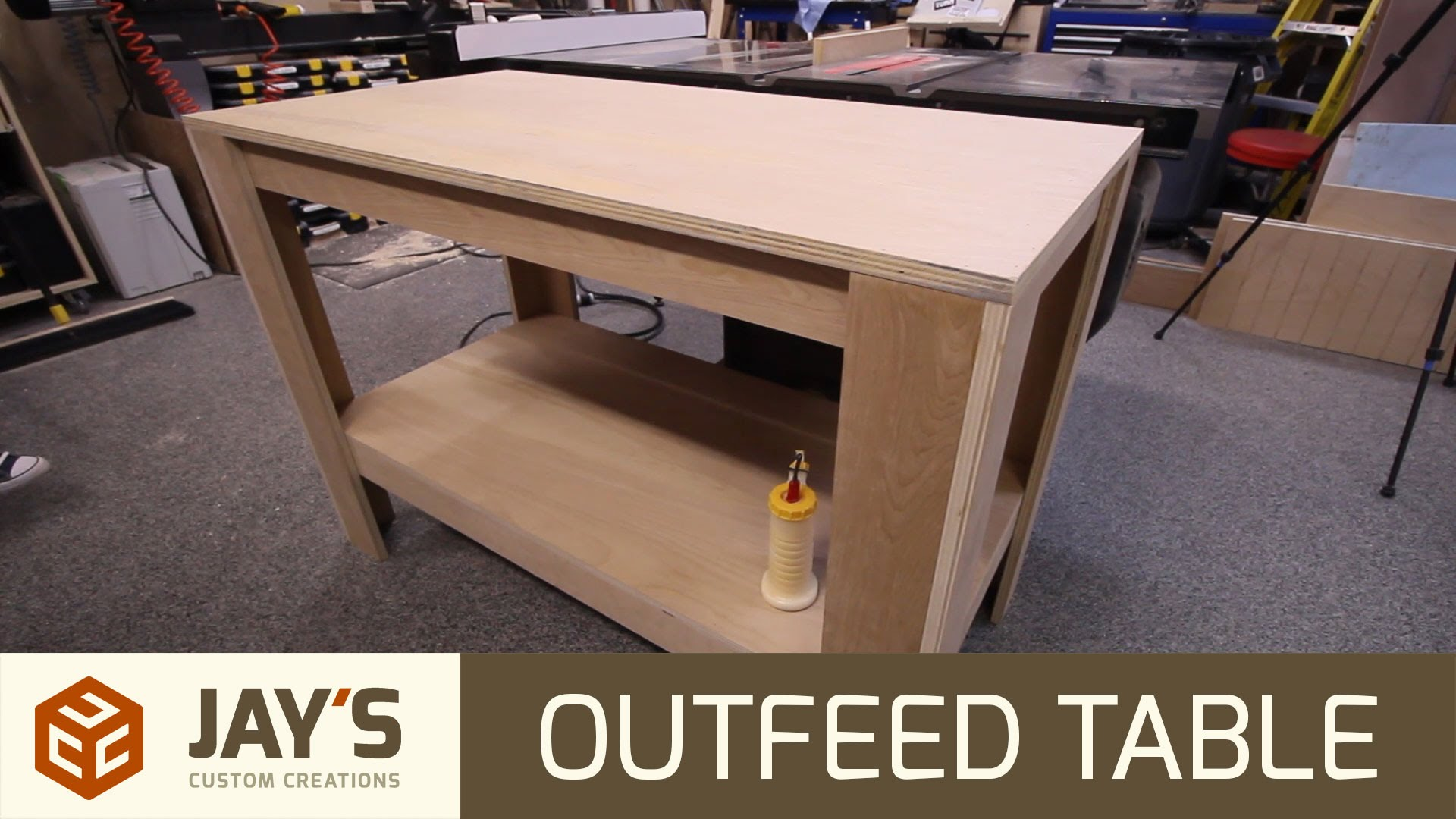 Shop Table From 1 Sheet Of Plywood Jays Custom Creations