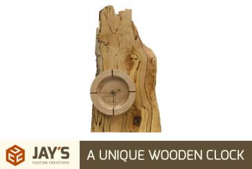 A Unique Wooden Clock