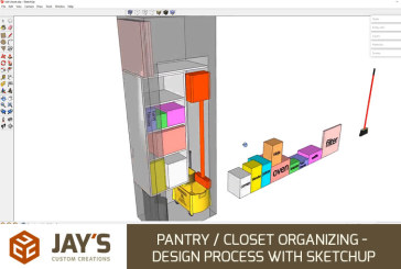 Pantry / Closet Organizing – Design Process with SketchUp