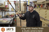 Vlog #105: Shellac finish & studio camera stand