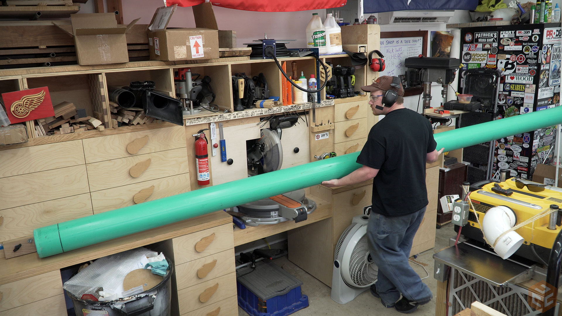 Dust Collection Duct : Dust collection piping and testing jays custom creations