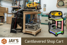 Cantilevered Shop Cart