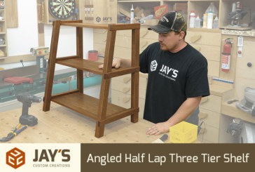 Angled Half Lap Three Tier Shelf